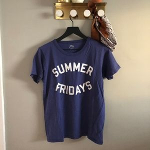 J. Crew Summer Fridays Whisper Cotton Tee Shirt